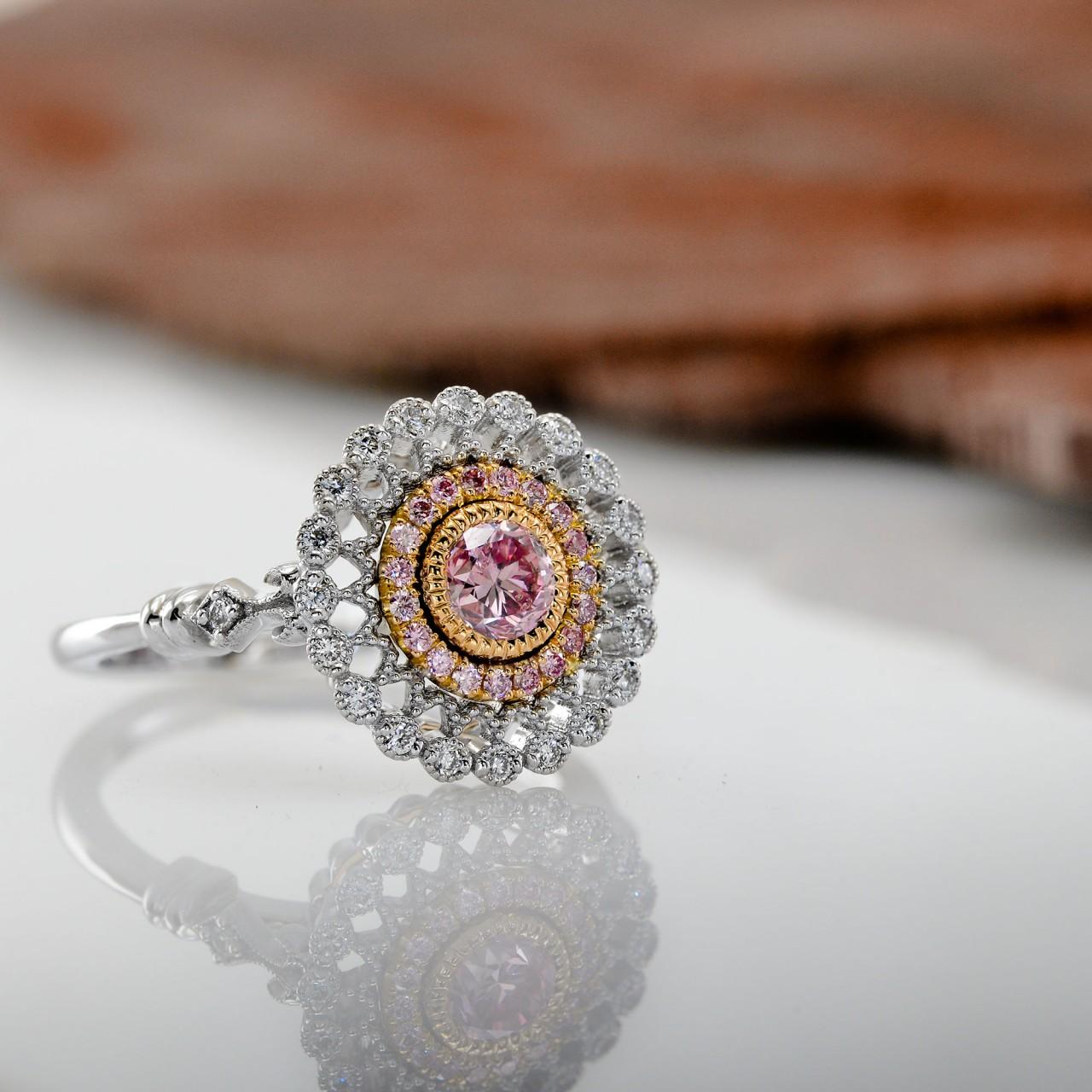 Argyle Fancy Intense Purplish Pink Diamond Ring