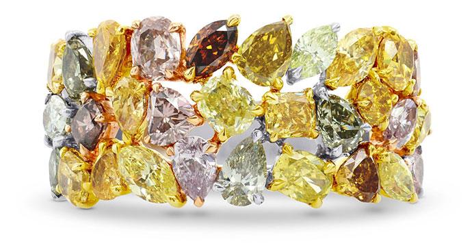 Fancy Color Collage Designer Diamond Ring 4 53ct Tw