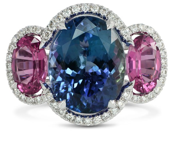 Tanzanite & Spinel Diamond Ring, SKU 2915R (4.95Ct TW)