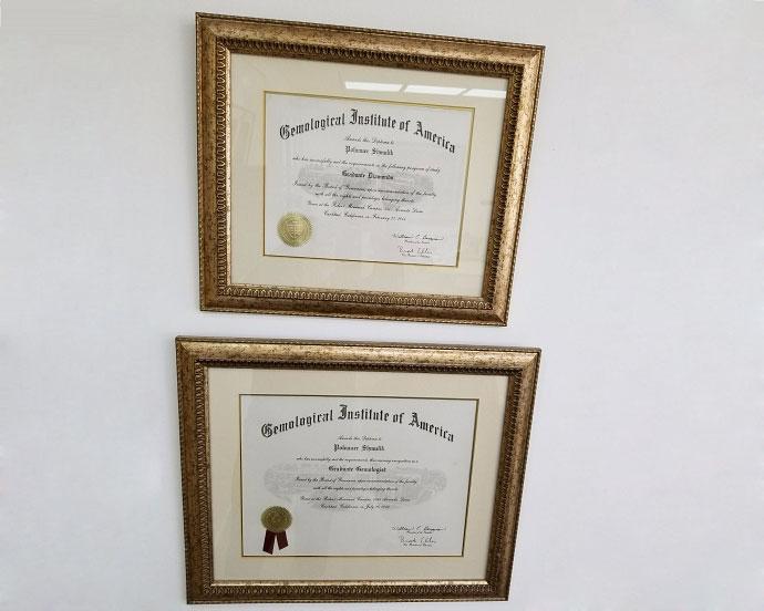 Leibish & Co. GIA Certificates