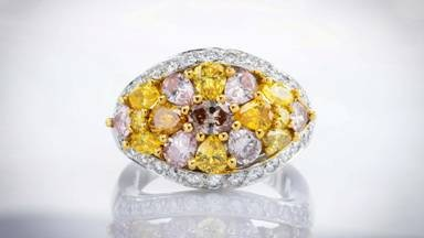 The colored diamond ring Leibish bought from Graff