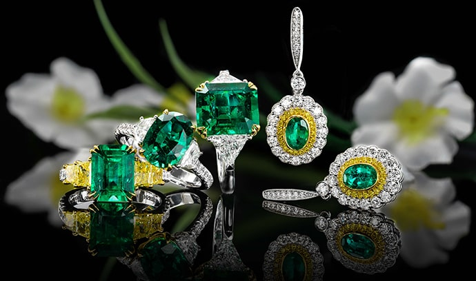 Leibish Emerald Jewelry