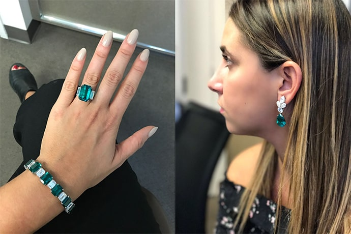 Leibish & Co. emerald jewelry