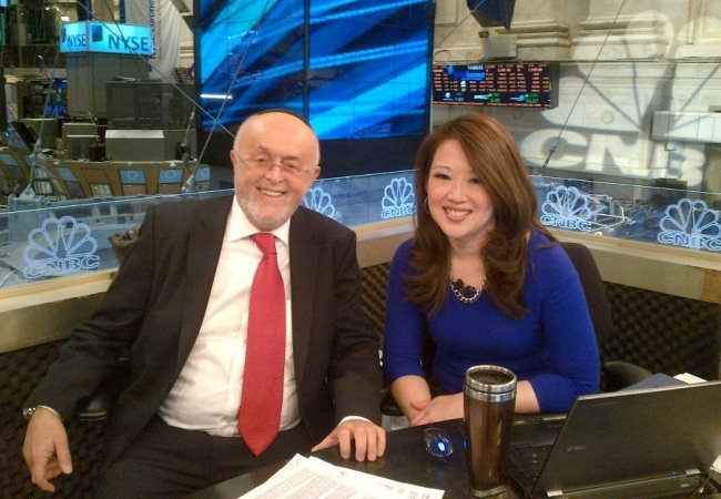 Leibish & Melissa Lee on the set of CNBC
