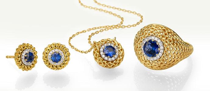 Rose Gold Sapphire Jewelry
