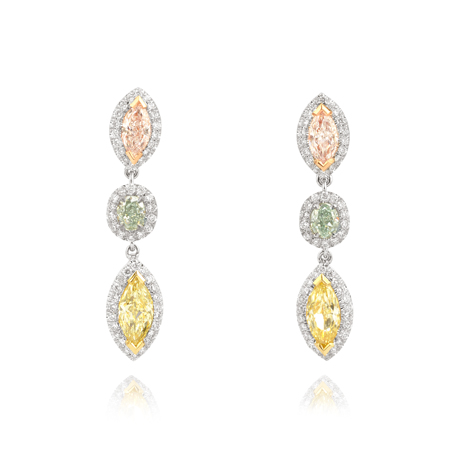 Mixed Diamond Earrings