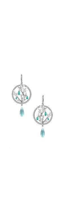 Blue nature earrings