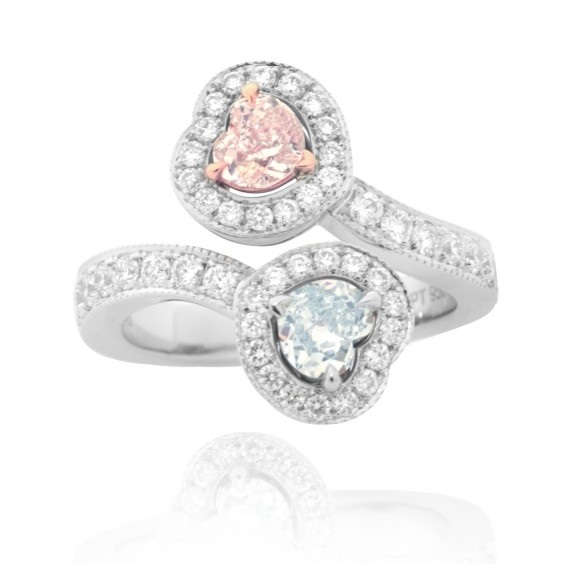Leibish & Co. Pink and Blue diamond ring