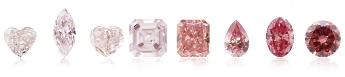 Pink diamonds color scale