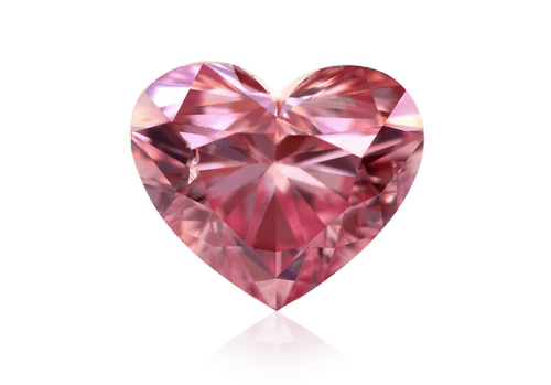 Leibish & Co. Argyle pink heart diamond