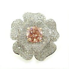 Pinkish Brown Diamond Ring