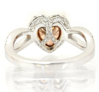 Pinkish Brown Diamond Ring