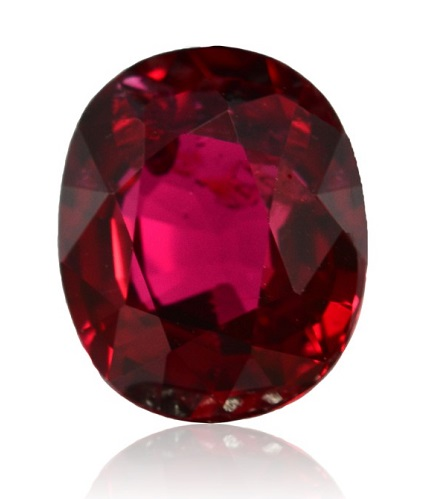A pure red ruby