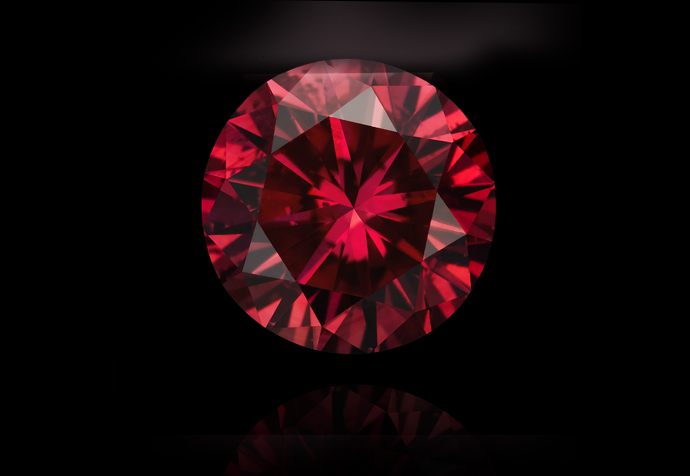 Red round diamond