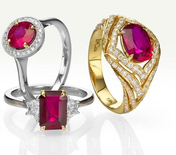 Leibish Ruby Jewelry