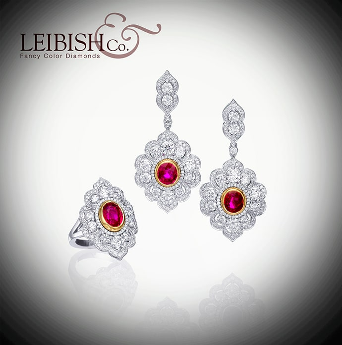 Ruby Earrings by Leibish