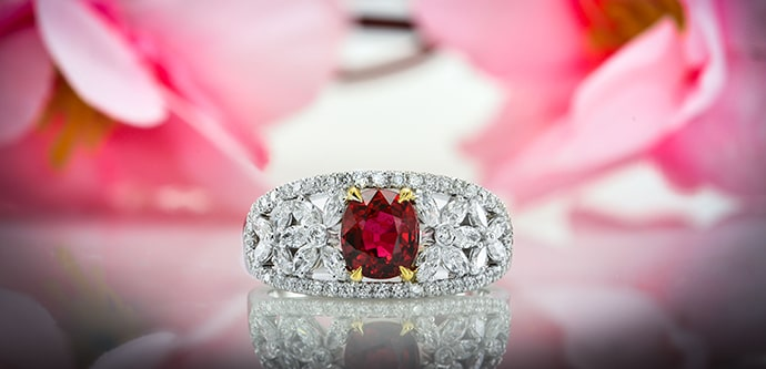 Leibish & Co. Ruby Ring
