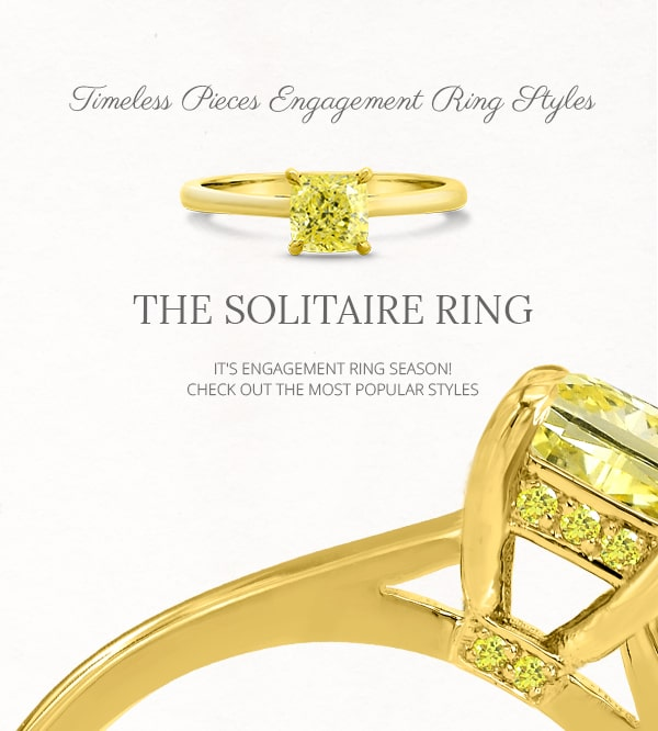 Solitaire Diamond and Gemstone Ring Styles