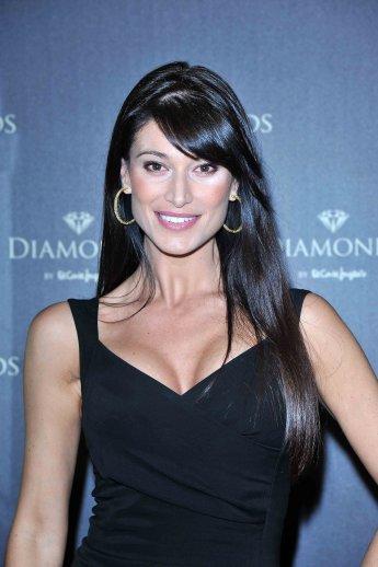 Sonia Ferrer in Leibish & Co. Yellow Diamond Earrings
