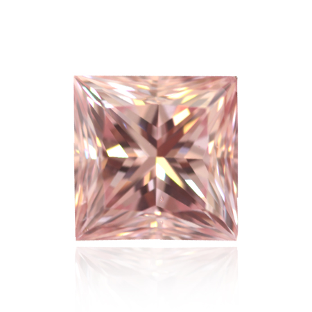 The 1.45-carat Fancy Intense Pink, Princess-cut Diamond