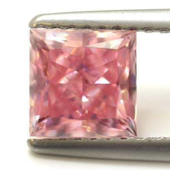 The 1.45ct Fancy Intense Argyle Pink Princess-cut Diamond