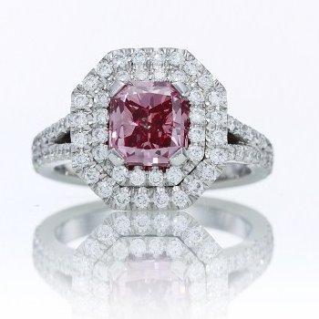 The 1.68-carat, Fancy Vivid Purplish Pink, Prosperity Pink Diamond