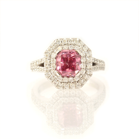 The Leibish Prosperity Pink ring