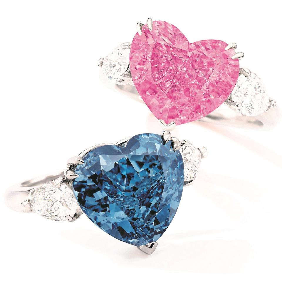 Fancy colored diamond jewelry from Christies Hong Kong, June 13