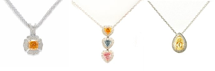 Various Color Diamond Pendants