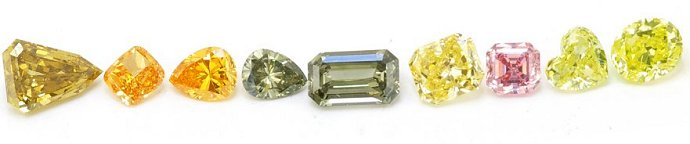 Various Diamond Sizes