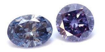 Fancy-Diamanten in Violett und Blau
