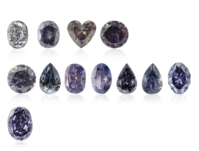 Leibish & Co. violet diamonds