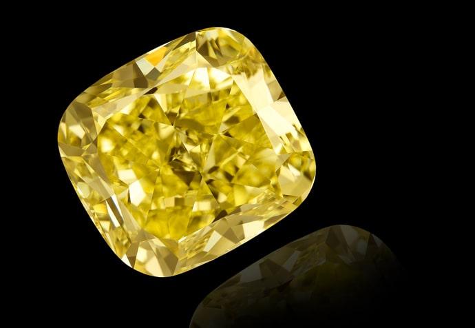 Yellow diamond Cushion shape
