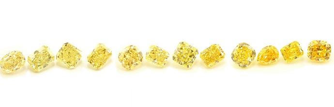 Yellow diamonds Comperison