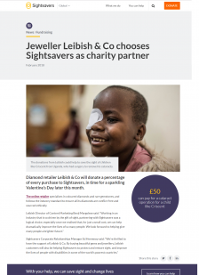 Jeweller Leibish & Co chooses Sightsavers as charity partner