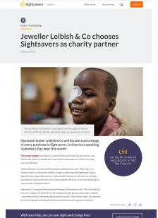 Jeweller Leibish & Co chooses Sightsavers as charity partner