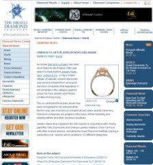 Israel Diamond Institute -  LEIBISH & CO. UP FOR JEWELRY NEWS ASIA AWARD 24.06.13, 12:02  / World