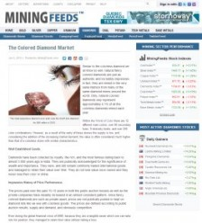 Mining Feeds - The Colored Diamond Market